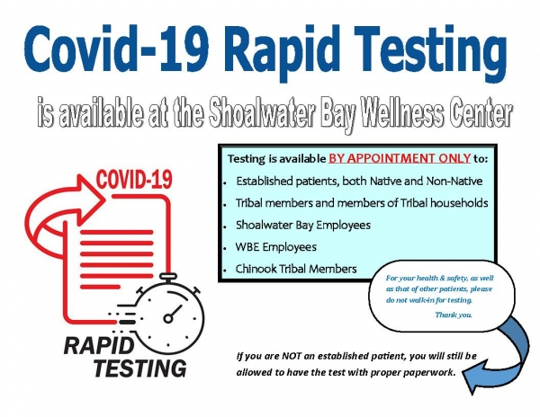 Covid 19 rapid test sign