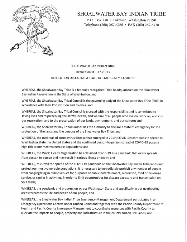 emergency declaration resolution Page 1