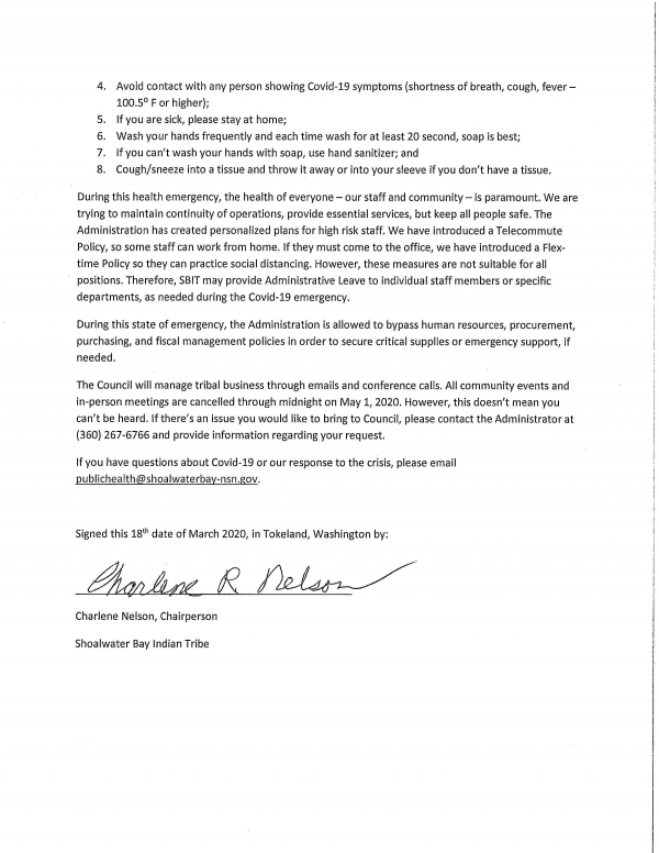 emergency declaration statement Page 2